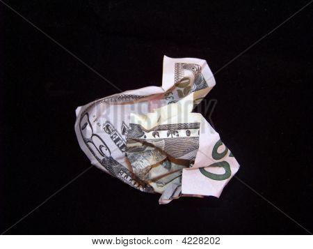 Crumpled Money