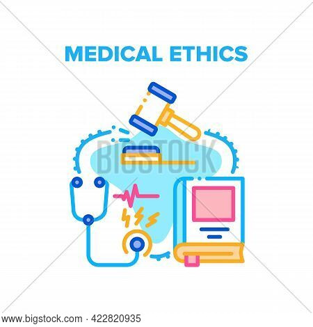 Medical Ethics Professional Vector Icon Concept. Medical Ethics Analyzing Practice Of Clinical Medic