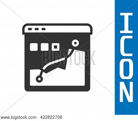 Grey Histogram Graph Photography Icon Isolated On White Background. Vector