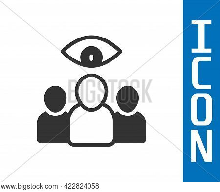 Grey Spy, Agent Icon Isolated On White Background. Spying On People. Vector