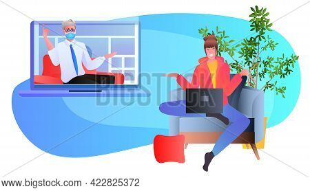 Male Psychologist Solving Psychological Problem Of Female Patient Psychotherapeutic Counseling Psych