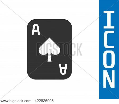 Grey Playing Cards Icon Isolated On White Background. Casino Gambling. Vector