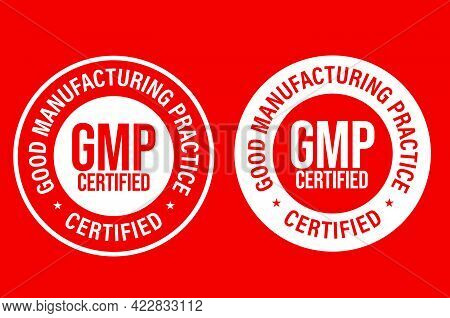 Gmp -good Manufacturing Practice Certified Vector Icon Set, Industrial Related Vector Icon