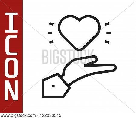 Black Line Pleasant Relationship Icon Isolated On White Background. Romantic Relationship Or Pleasan