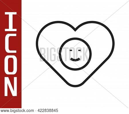Black Line Good Relationship Icon Isolated On White Background. Romantic Relationship Or Pleasant Me