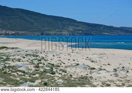 View Of The Pirotti Li Frati Beach
