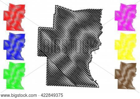 Windham County, State Of Vermont (u.s. County, United States Of America, Usa, U.s., Us) Map Vector I