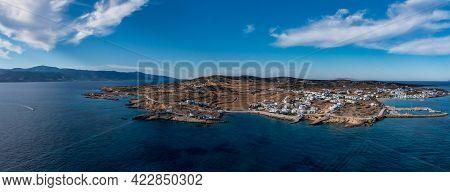 Greece, Pano Koufonisi Small Cyclades Island, Aerial Drone Panorama