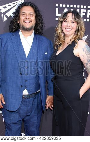 LOS ANGELES - JUN 2:  Felipe Esparaza, Lesa O'Daniel at the 7th and Union Premiere -  Los Angeles Latino International Film Festival at the TCL Chinese Theater IMAX on June 2, 2021 in Los Angeles, CA