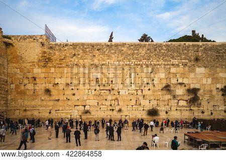 March 12, 2019: Wailing Wall, Aka Western Wall, Buraq Wall, Often Shortened To The Kotel Or Kosel, I