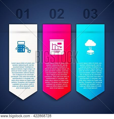 Set Calculation Of Expenses, Pie Chart Infographic And Storm. Business Infographic Template. Vector