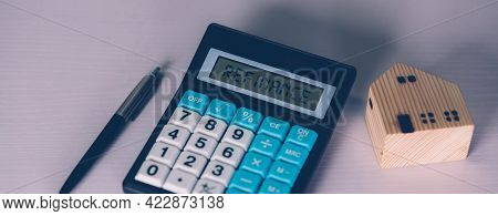 Calculator With Text Refinance Home While Expense For Loan Mortgage, Investment And Banking, Propert