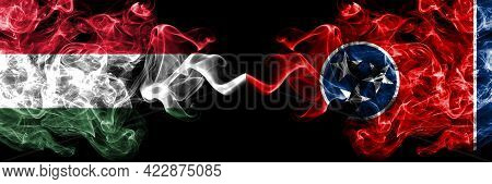 Hungary, Hungarian Vs United States Of America, America, Us, Usa, American, Tennessee Smoky Flags Si