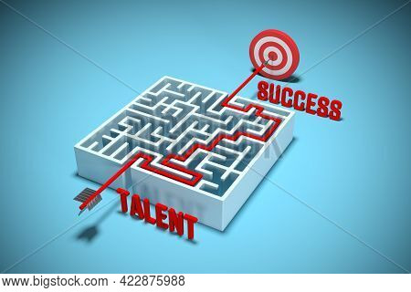 Talent And Hard Work Make Success. Hit The Target With Your Talent And Transform Talent To Success.