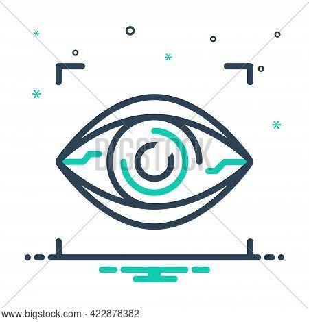 Mix Icon For Bionic-contact-lens Bionic Contact Lens Virtual Vision Retina Reality Lenses Biometrics