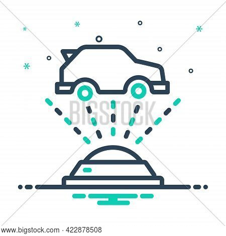 Mix Icon For Hologram-projection Three-dimensional Data Virtual Interactive Gadget Cyberspace Virtua