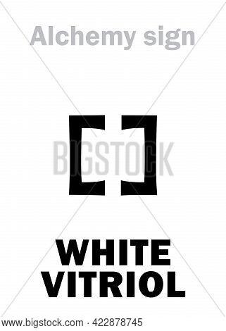 Alchemy Alphabet: White Vitriol (sal Vitrioli), Zinc Copperas. Zinc Sulphate: Chemical Formula=[znso