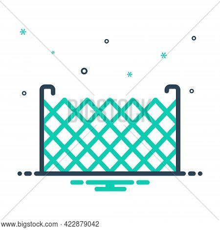 Mix Icon For Fence Barricade Barbed-wire Stockade Palisade Security Mesh Rampart Defense