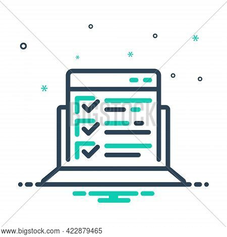 Mix Icon For Testing Features Examination Verification Measurement Proving Experimenting List