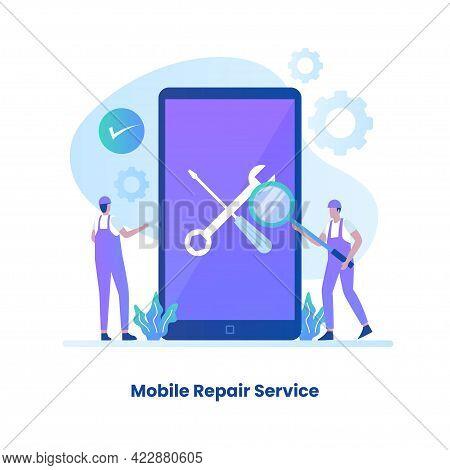 Flat Design Mobile Repair Service Concept