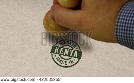 Made In Kenya Stamp And Stamping