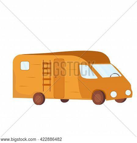 Rv Cars Recreational Vehicles Camper Vans Caravans Vector Icons. Vector Stock Illustration Of A Mobi
