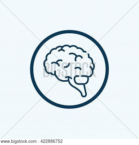 Brain Icon Isolated On White Background From Human Thought Collection. Trendy And Modern Brain Icon