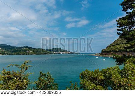 View From Above Of Urdaibai, Bizkaia Biosphere Reserve Next To Mundaka. Basque Country