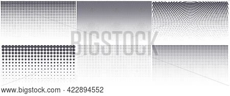 Modern Halftone Background. Vintage Dotted Texture For Anime Or Manga Design. Abstract Comic Grunge