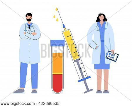 Prp Therapy For Knee Disease, Alopecia And Facelift. Separation Of Erythrocytes, Red Blood Cells By