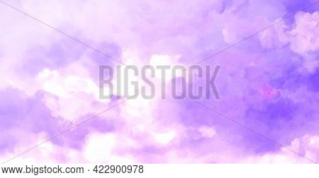 Beatiful Sky With Clouds Artistic Background. Cloudscape Painting Design