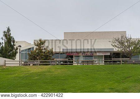 Santa Barbara, Ca, Usa - June 2, 2021: City College Facilities. Frontal View On Garvin Theatre Build