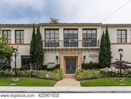 Santa Barbara, Ca, Usa - June 2, 2021: City College Facilities. Front Facade And Entrance To Macdoug