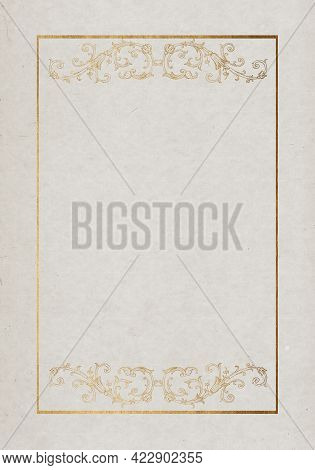 Abstract Stained Paper Texture Background Or Backdrop. Empty Old Beige Paperboard Or Grainy Cardboar