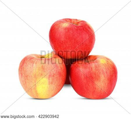 A Fuji Apple Isolated On White Background