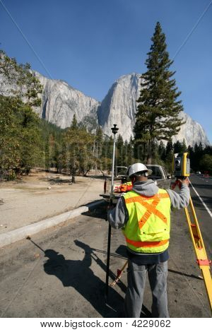Highway Worker, Yosemite, Surveyor, El Capitan