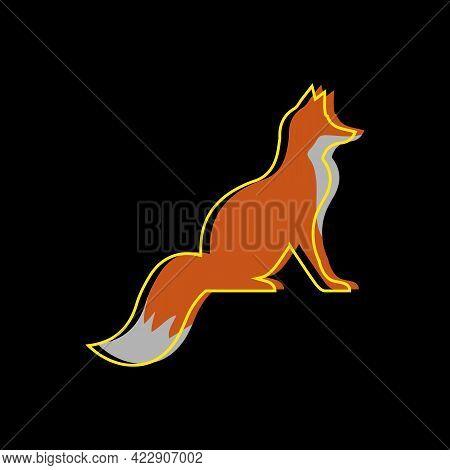 Illustration Vector Graphic Of Line Art Fox Logo