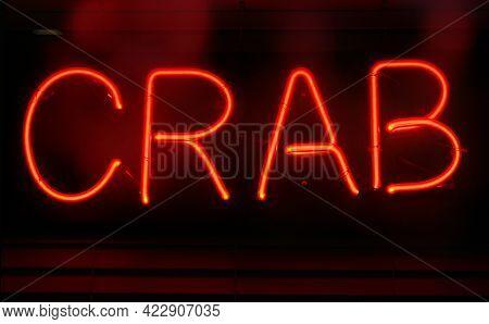 Photograph Composite Neon Seafood Restaurant Sign Crab