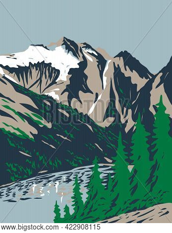 Wpa Poster Art Of Summit Of Mount Triumph In Cascade Range Located In Northern Cascades National Par