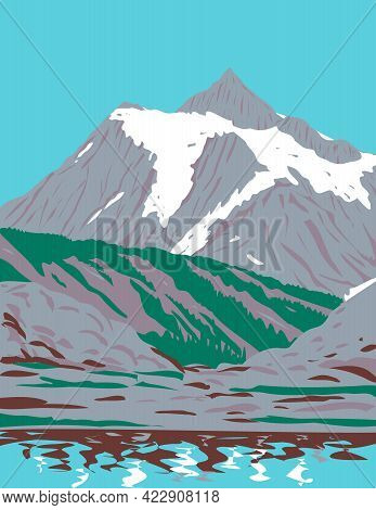 Wpa Poster Art Of Mount Shuksan A Glaciated Massif In Cascade Range Located In Northern Cascades Nat