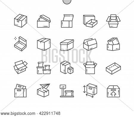Carton Box. Open Box. Weight, Size, Send Box. Packaging, Transportation, Merchandise, Corrugated And