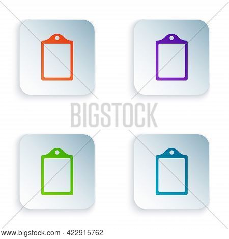 Color Cutting Board Icon Isolated On White Background. Chopping Board Symbol. Set Colorful Icons In