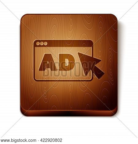Brown Advertising Icon Isolated On White Background. Concept Of Marketing And Promotion Process. Res