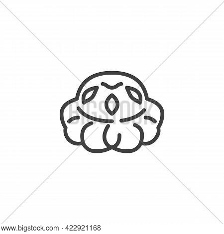 Cottage Loaf Bread Line Icon. Linear Style Sign For Mobile Concept And Web Design. British Cottage L