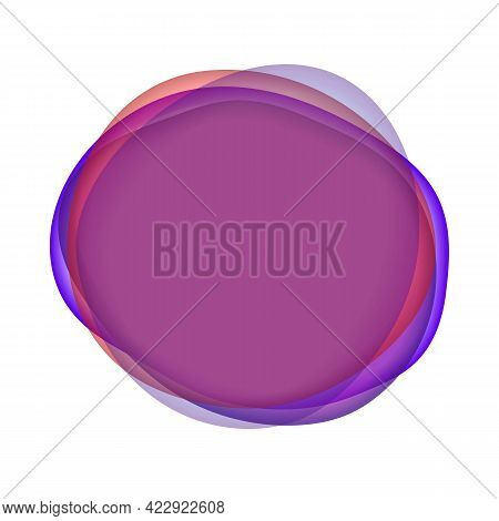 Abstract Futuristic Wavy Blobs. Translucent Vector Illustration Spots Set. Gradient Shapes With Tran