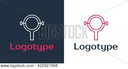 Logotype Line Filter Wrench Icon Isolated On White Background. The Key For Tightening The Bulb Filte