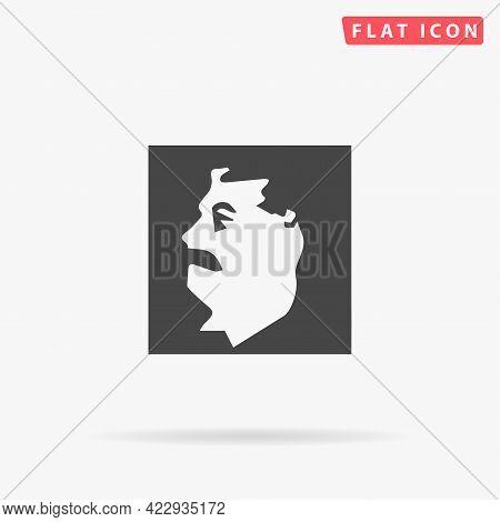 Communist Soviet Union Leader Joseph Stalin Flat Vector Icon. Hand Drawn Style Design Illustrations.