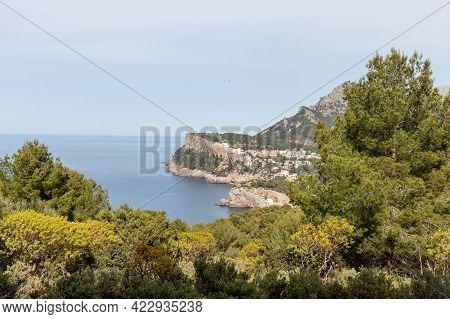 Cliffside Hotel Complex At Port De Soller, Mallorca, Spain