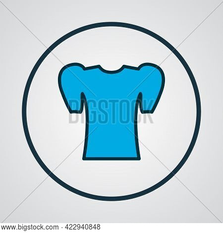 Puffed Sleeve Shirt Icon Colored Line Symbol. Premium Quality Isolated Elegant Blouse Element In Tre