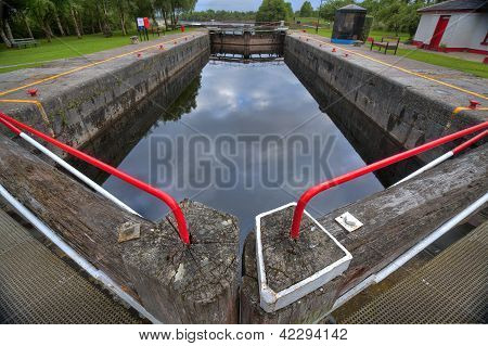 Vintage lock on Shannon river
